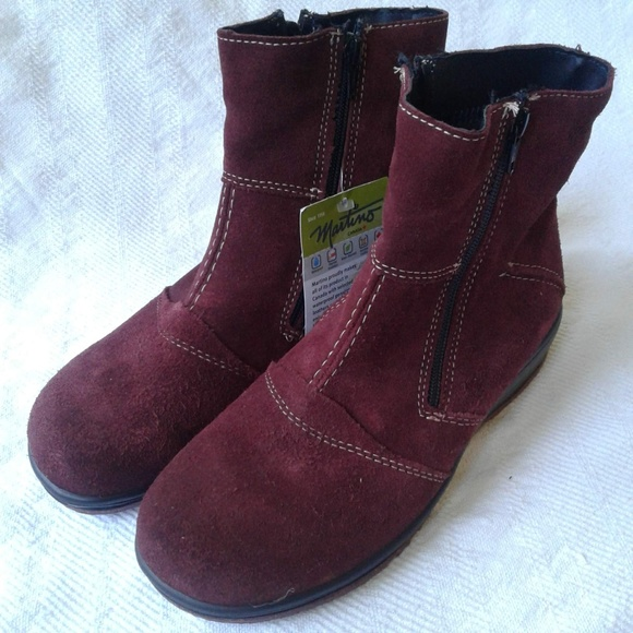 1d3b5032a95 Martino Ankle Boots 9.5 Burgundy Zip Up Shirley NWT